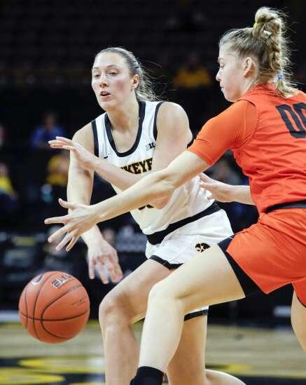 Photos: Iowa women's basketball vs. Princeton