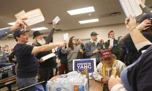 At least half of Iowa caucuses results expected by day's…