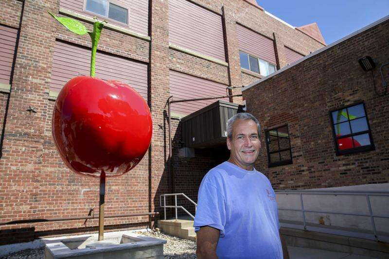 There's a giant cherry in NewBo, aptly next to the Cherry Building
