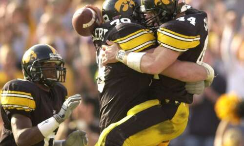 Dallas Clark mowed and then he owned Kinnick
