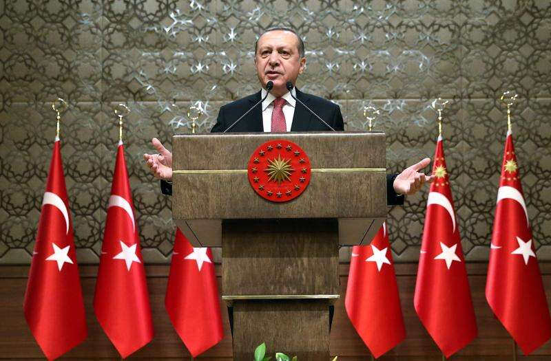 Amid Turkey's media crackdown, Erdogan praises Trump for putting CNN reporter 'in his place'