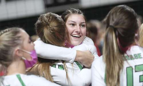 Photos: Osage vs. Davenport Assumption, Iowa Class 3A state volleyball…