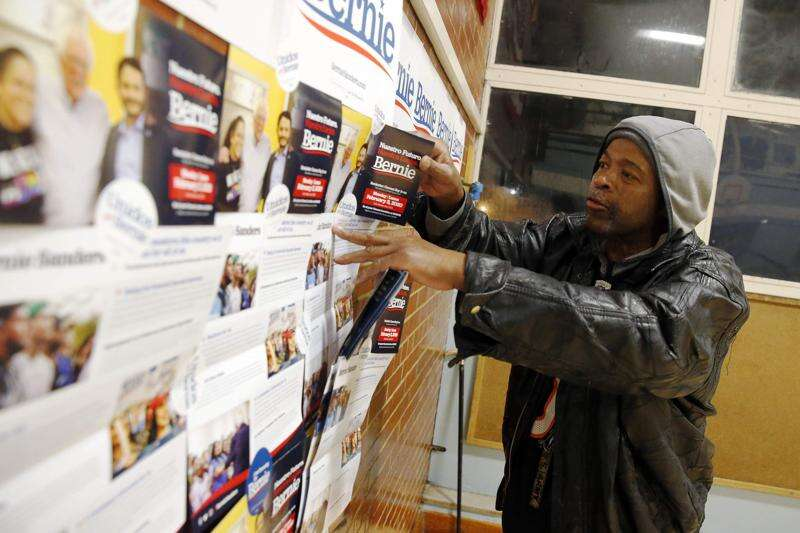 Nearly all at multilingual Iowa caucus site in Cedar Rapids pick Bernie Sanders