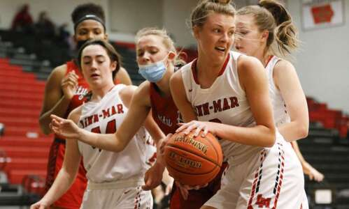 Photos: Iowa City High vs. Linn-Mar, Iowa high school girls'…