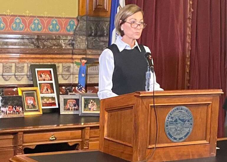 Reynolds says election validates Iowa's COVID-19 response as she urges steps to stop the spread