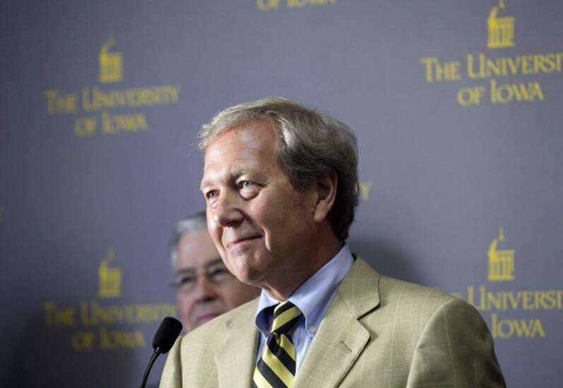 University of Iowa President Harreld said he always wanted to donate his deferred comp to campus