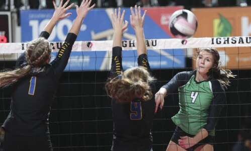 Osage sweeps, shoves its way to the 3A state volleyball…