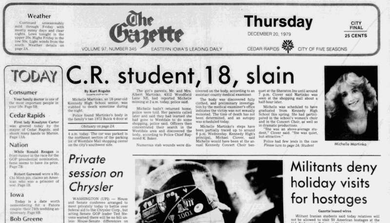 Read the 1979 Michelle Martinko coverage from The Gazette's archive