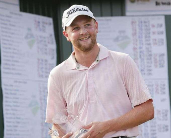Iowa State's Tripp Kinney nearly pulls rare Iowa golf double