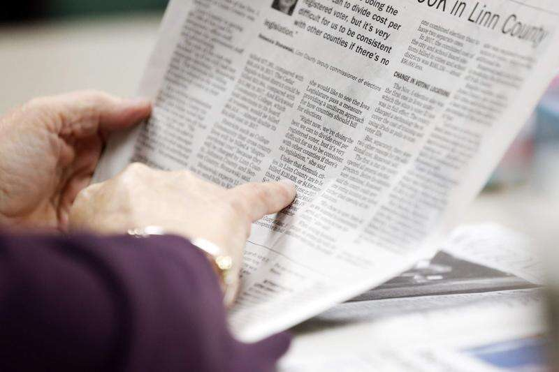 Listening to the newspaper on the radio? It's a thing.