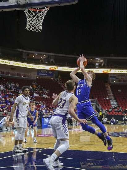 Photos: Montezuma vs. Lake Mills, Iowa Class 1A boys state basketball quarterfinals