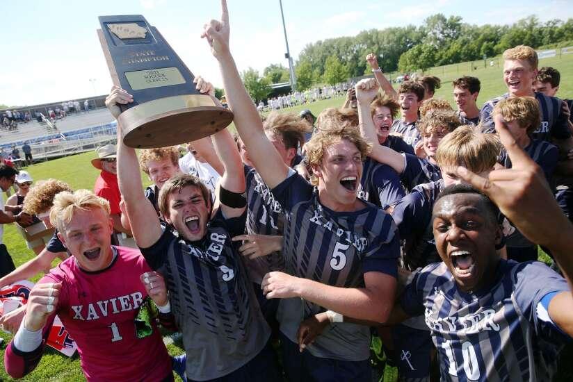 Cedar Rapids Xavier redeem team claims 2A boys' state soccer championship