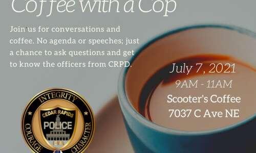 Cedar Rapids Police's Coffee with a Cop returns on Wednesday