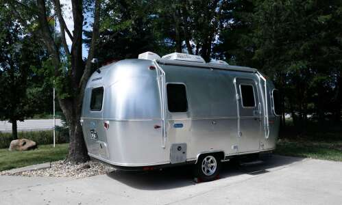 North Liberty's Away in an Airstream a vintage camping experience
