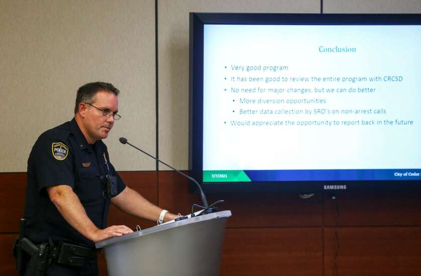 'Our schools are safer and better places' because of officers, Cedar Rapids police chief says