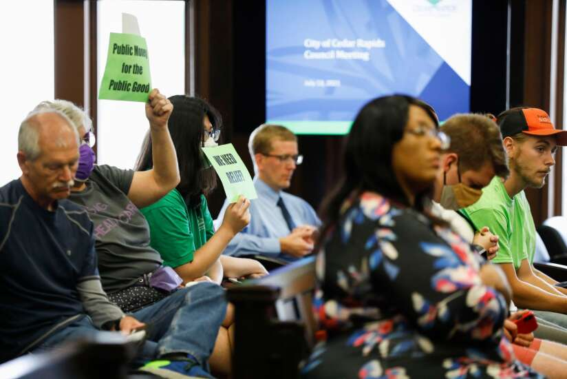 Activists urge Cedar Rapids City Council to use $28 million in federal relief funds for 'public good'