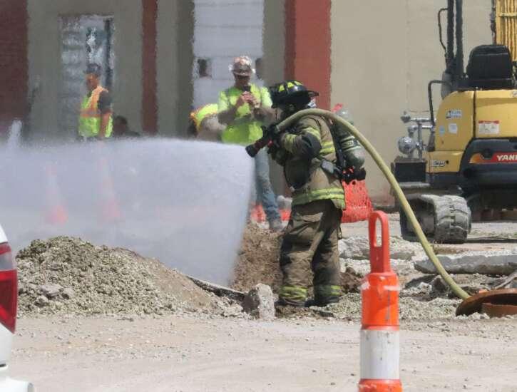 Gas line fire rocks Mt. Pleasant