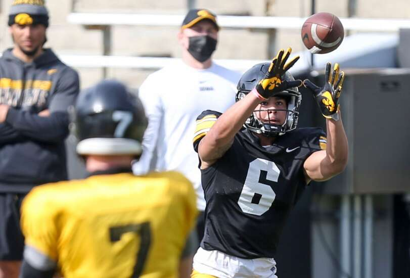 Observations from Iowa football's open spring practice