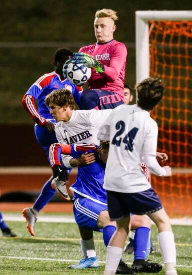 Photos: Cedar Rapids Xavier vs. Cedar Rapids Washington, Iowa high school boys' soccer
