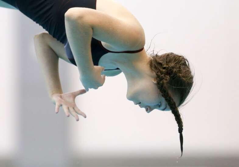 Photos: Linn-Mar triangular, Iowa high school girls' swimming
