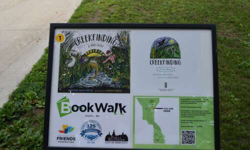 New BookWalk installation at Iowa City park combines reading and…