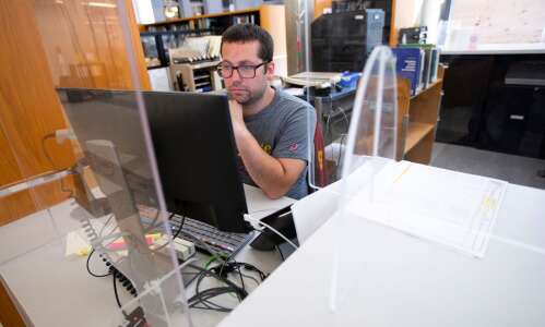 Iowa State students repurpose COVID barriers for class assignment