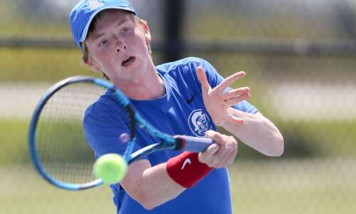 Boys' tennis district results: Iowa City West doubles up