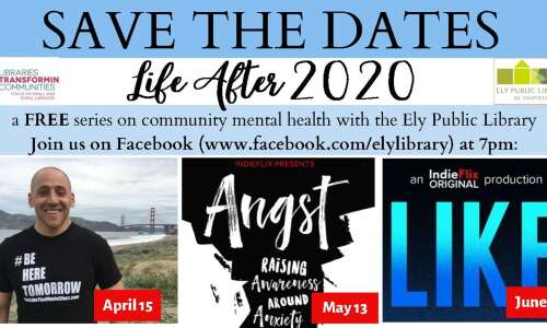 Ely Public Library presents mental health series