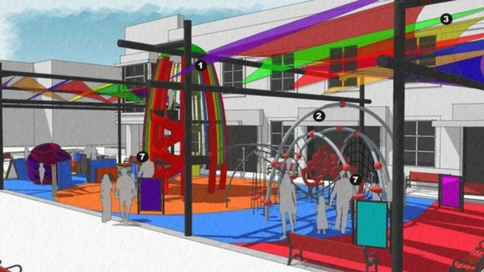 New playground proposed for Iowa City Ped Mall