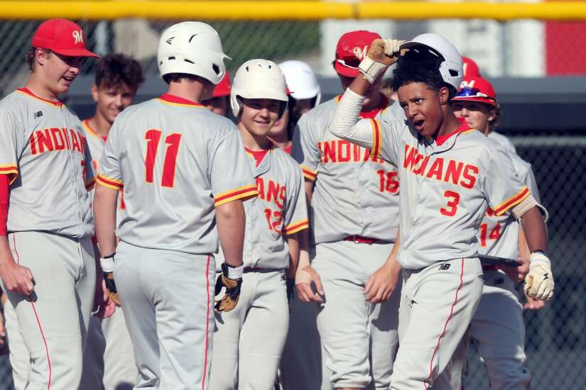 Offensive prowess powers Marion to baseball sweep over Center Point-Urbana