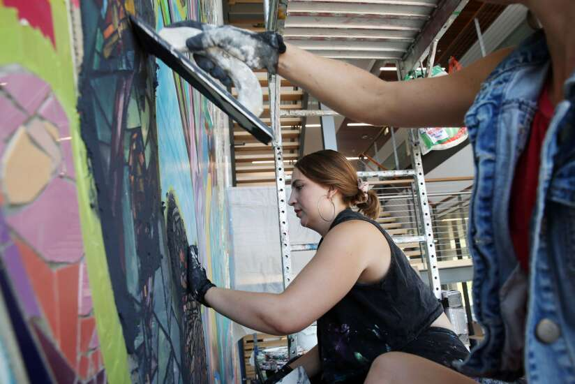 Pieces of community come together in new public art at Linn County's Harris Building