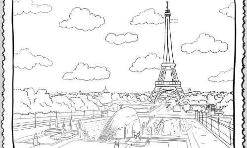 Color in this view of Paris