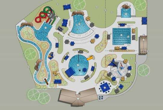 Marion presents new aquatic center concepts with large slides, lazy river and wave pool