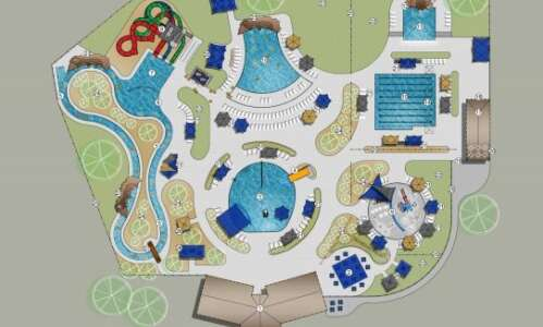 Marion presents new aquatic center concepts with large slides, lazy…