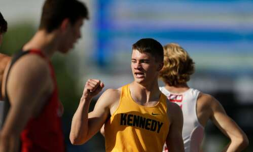 Drew Bartels is a state track gold standard Friday. Twice.