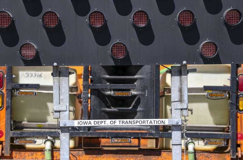 Iowa DOT road crews turn to sirens to warn drivers off a collision course