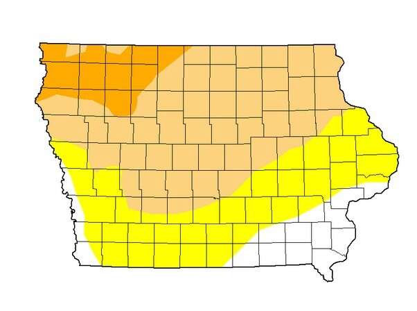 Hot and dry Iowa starting to take toll on corn and soybeans