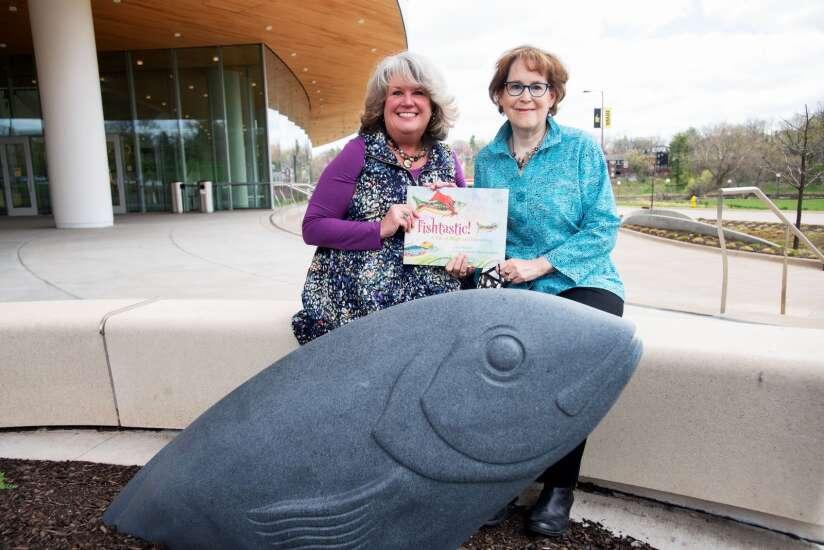 Hancher's 'Wellspring' fish sculptures inspire children's book by Iowa City author and illustrator