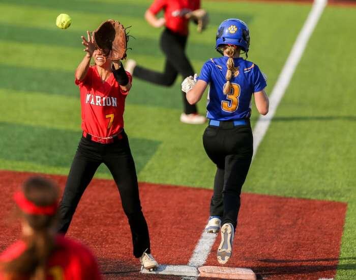 Photos: Marion vs. Benton Community, Iowa high school softball