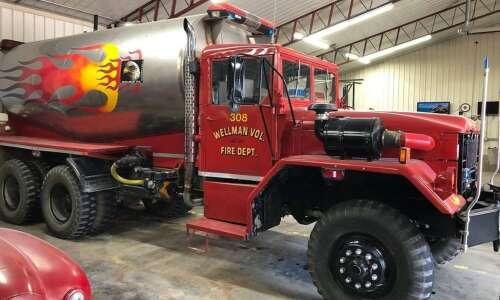 Wellman fire dept. selling tanker