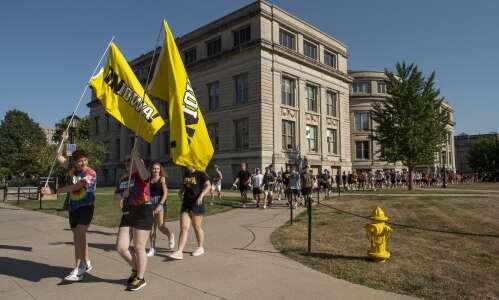 University of Iowa urges 'healthy Hawkeyes' in pre-semester celebrations