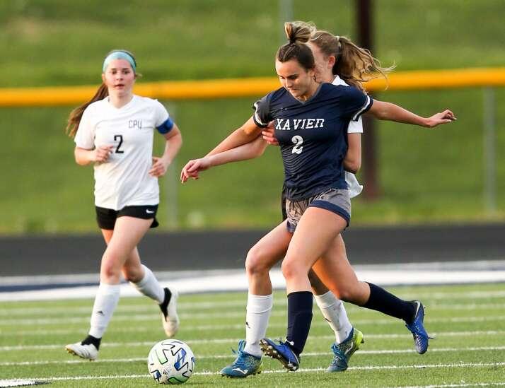 Photos: Cedar Rapids Xavier vs. Center Point-Urbana, Iowa high school girls' soccer