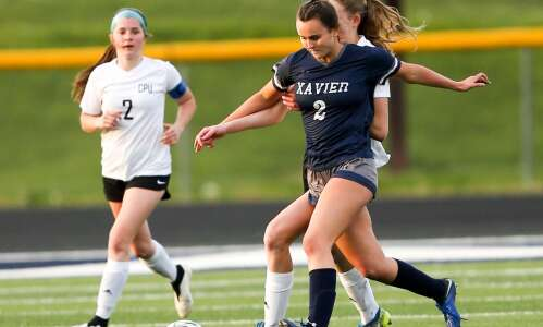 Photos: Xavier vs. Center Point-Urbana, Iowa high school girls' soccer