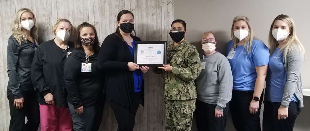 MercyCare Marion receives Department of Defense Award