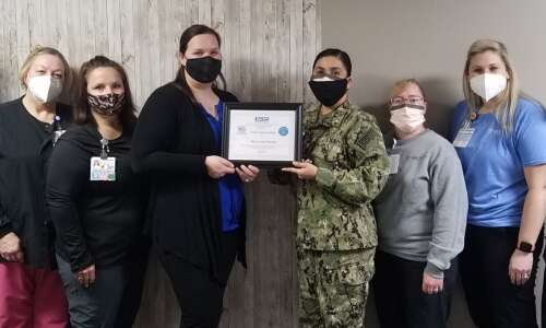 MercyCare Marion receives Department of Defense Award