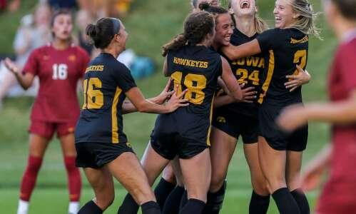 Photos: Iowa vs. ISU women's soccer