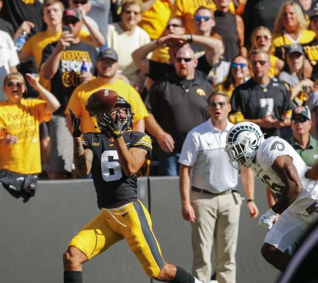 Keagan Johnson humbly emerges as Iowa Hawkeyes' big-play option