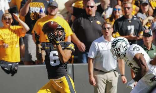 Keagan Johnson humbly emerges as Iowa's big-play receiver