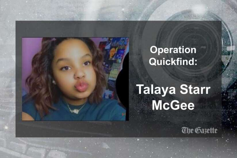 (CANCELED) Operation Quickfind issued for Talaya McGee, 13, of Marion