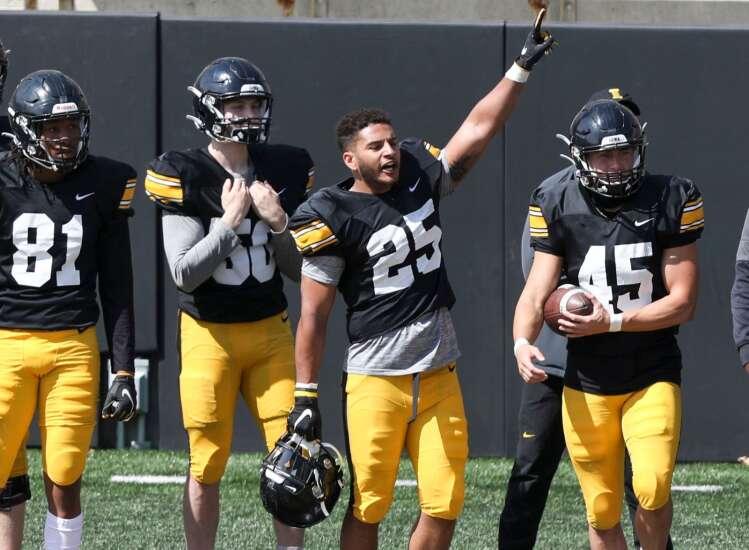 Photos: Iowa Hawkeyes spring football practice